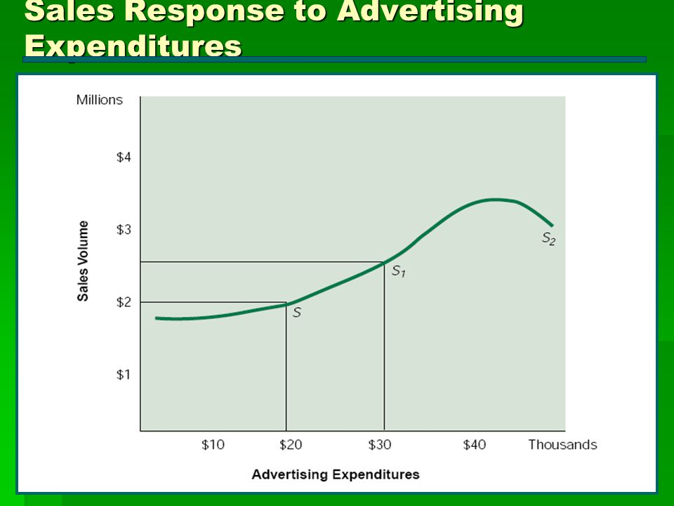 Sales Response to Advertising Expenditures