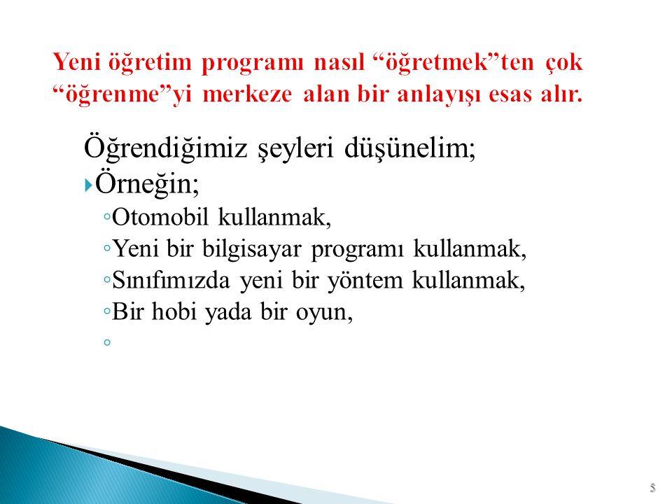 Fen ve teknoloji öğretim programının ünite organizasyonu  E.