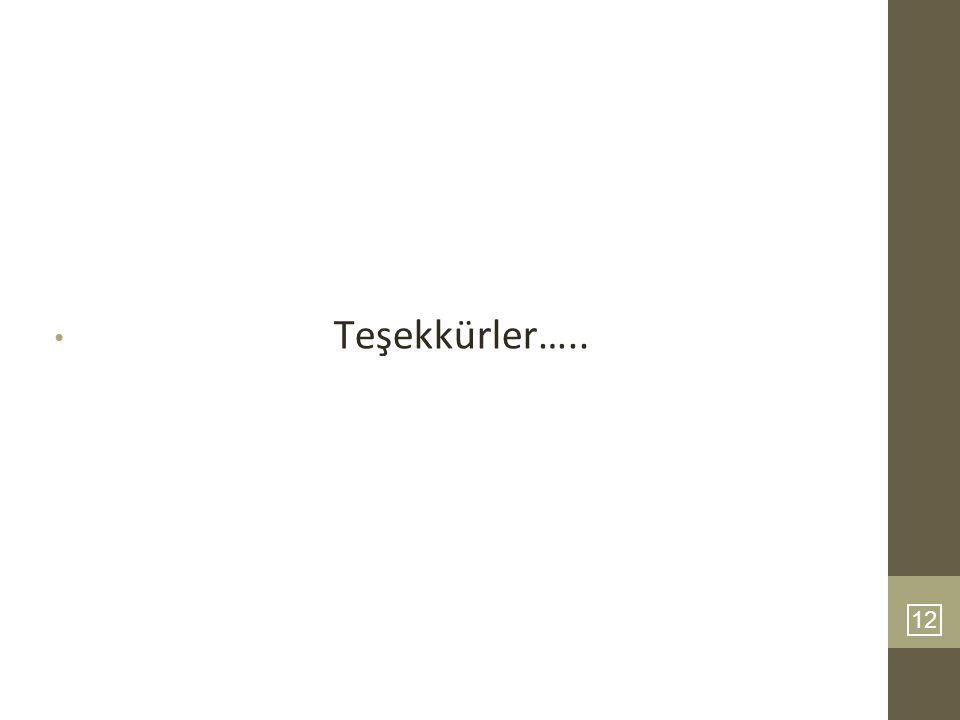 12 Teşekkürler…..