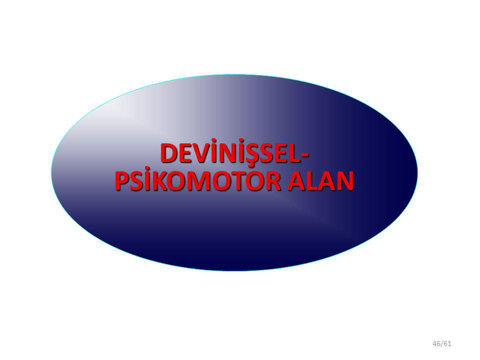 46/61 DEVİNİŞSEL- PSİKOMOTOR ALAN