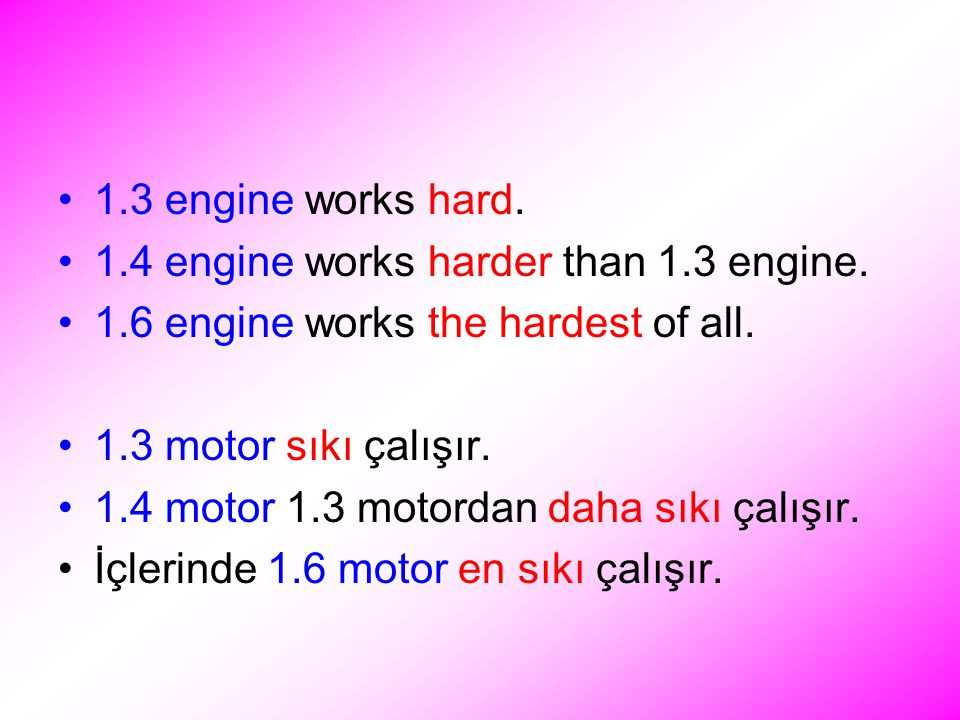 1.3 engine works hard. 1.4 engine works harder than 1.3 engine.