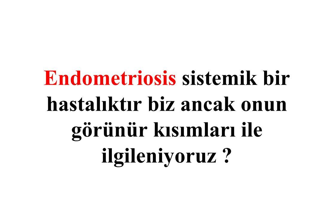 Endometriosis sistemik bir hastalıktır biz ancak onun görünür kısımları ile ilgileniyoruz ?