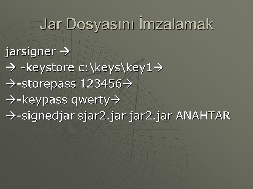 Anahtar Oluşturmak Bu komut yazıldıktan sonra aşağıdaki mesaj alınacaktır. Enter keystore password: 123456 What is your first and last name? [Unknown]