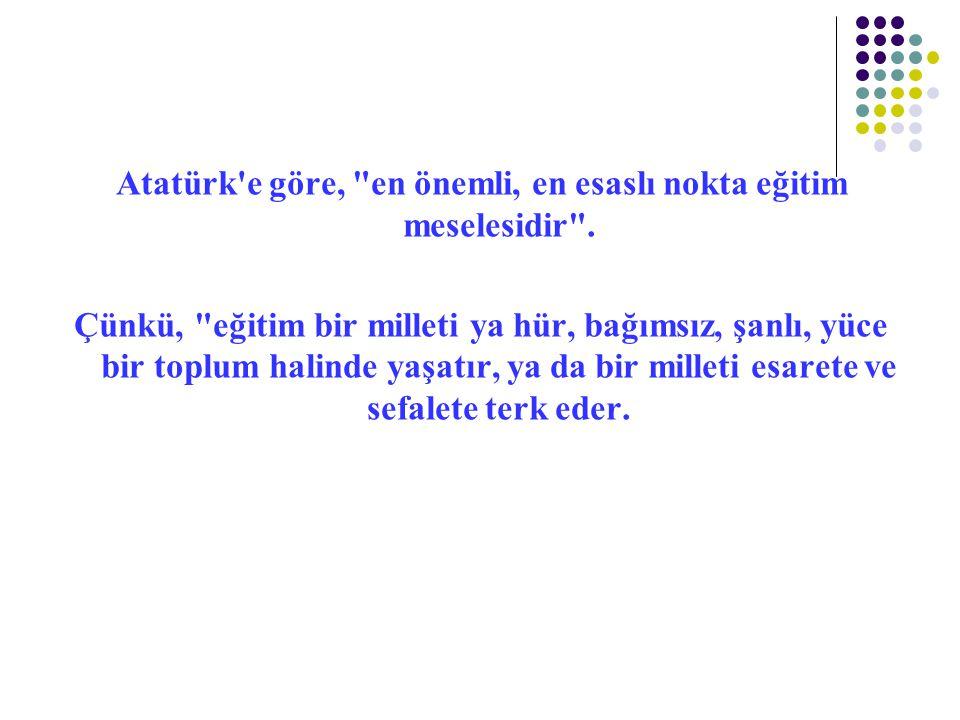 Atatürk'e göre,
