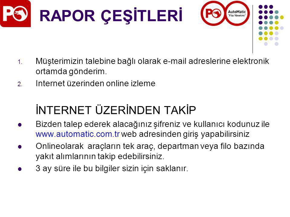 RAPOR ÇEŞİTLERİ 1.