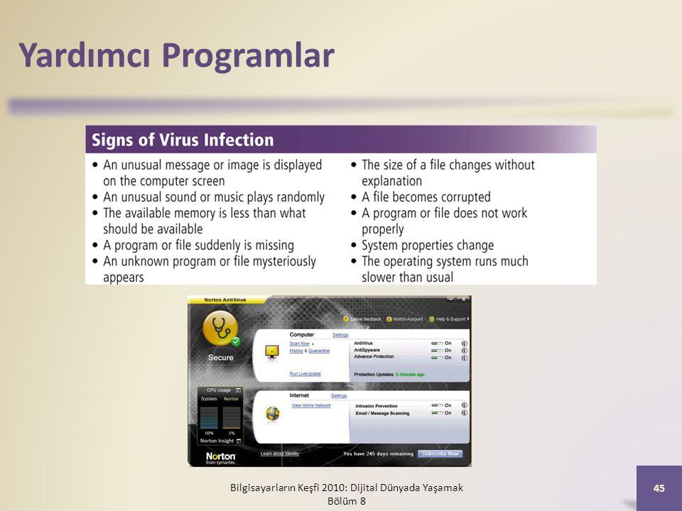 Yardımcı Programlar Bilgisayarların Keşfi 2010: Dijital Dünyada Yaşamak Bölüm 8 45
