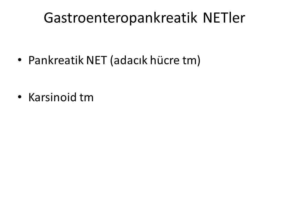 Çoğu hastada VIPoma sendromu – Pankreatik kolera sendromu – Verner-Morrison sendromu