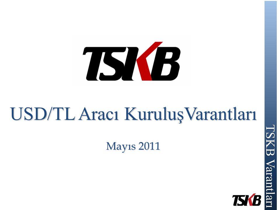 TSKB Varantları TSKB Varantları USD/TL Aracı KuruluşVarantları Mayıs 2011