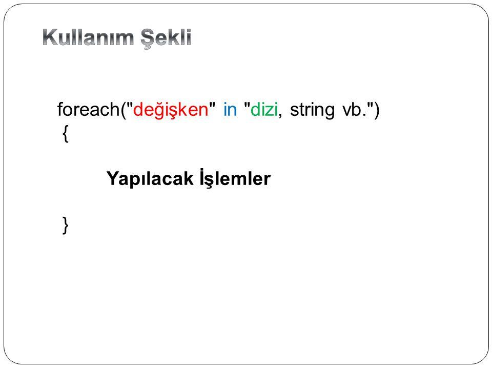 C# 'ta en basit döngü while ifadesidir.else kısmı olmayan bir if ifadesine çok benzer.