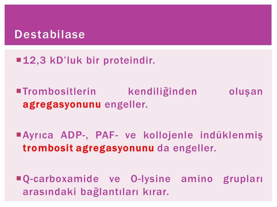  12,3 kD'luk bir proteindir.  Trombositlerin kendiliğinden oluşan agregasyonunu engeller.  Ayrıca ADP-, PAF- ve kollojenle indüklenmiş trombosit ag
