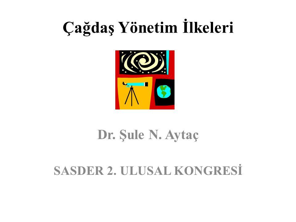 Çağdaş Yönetim İlkeleri Dr. Şule N. Aytaç SASDER 2. ULUSAL KONGRESİ
