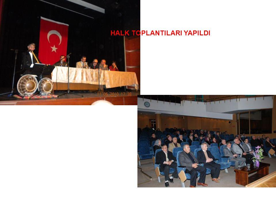 HALK TOPLANTILARI YAPILDI