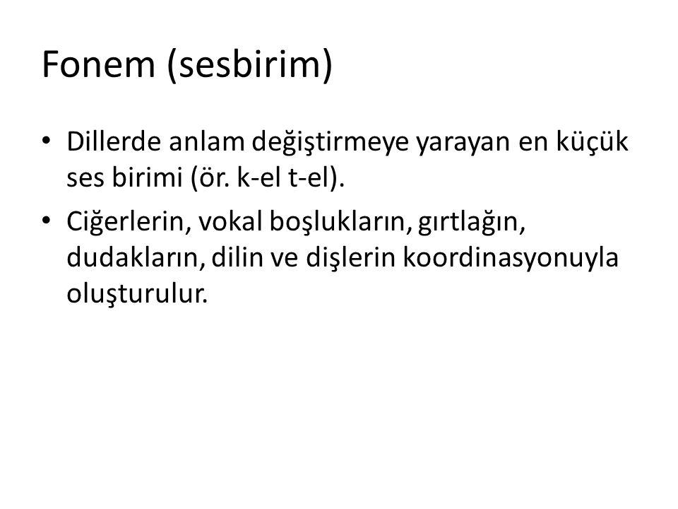 Morfem (biçimbirim) Dildeki en küçük anlam birimi, biçimbirimdir.
