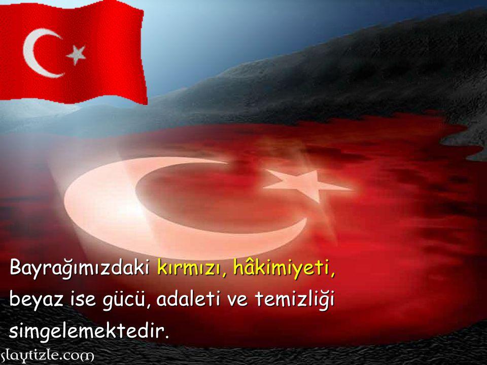 Türk bayrağındaki kırmızı ve beyaz neyi temsil eder?