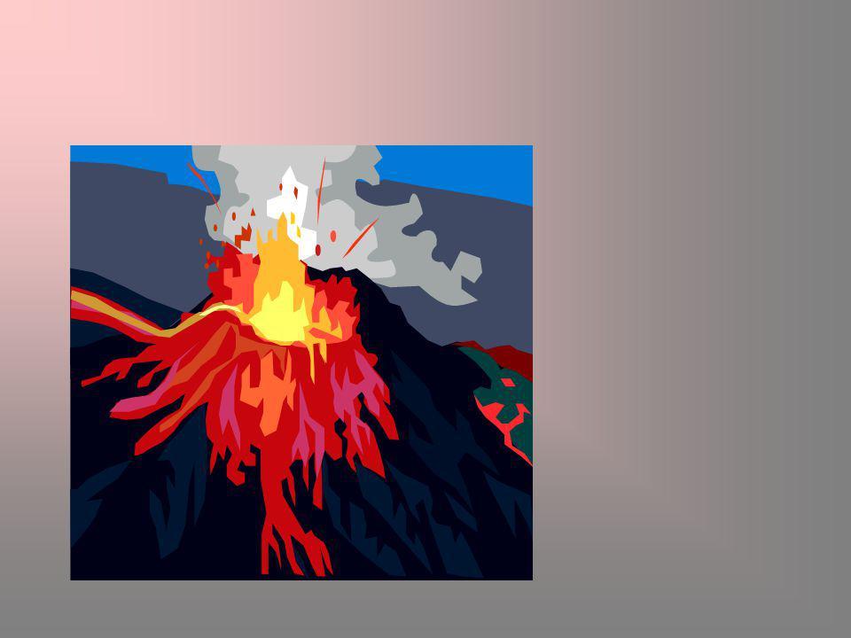 Volkanizma sırasında ortaya çıkan malzemeler: Gaz: Patlama sırasında ilk olarak çıkar.