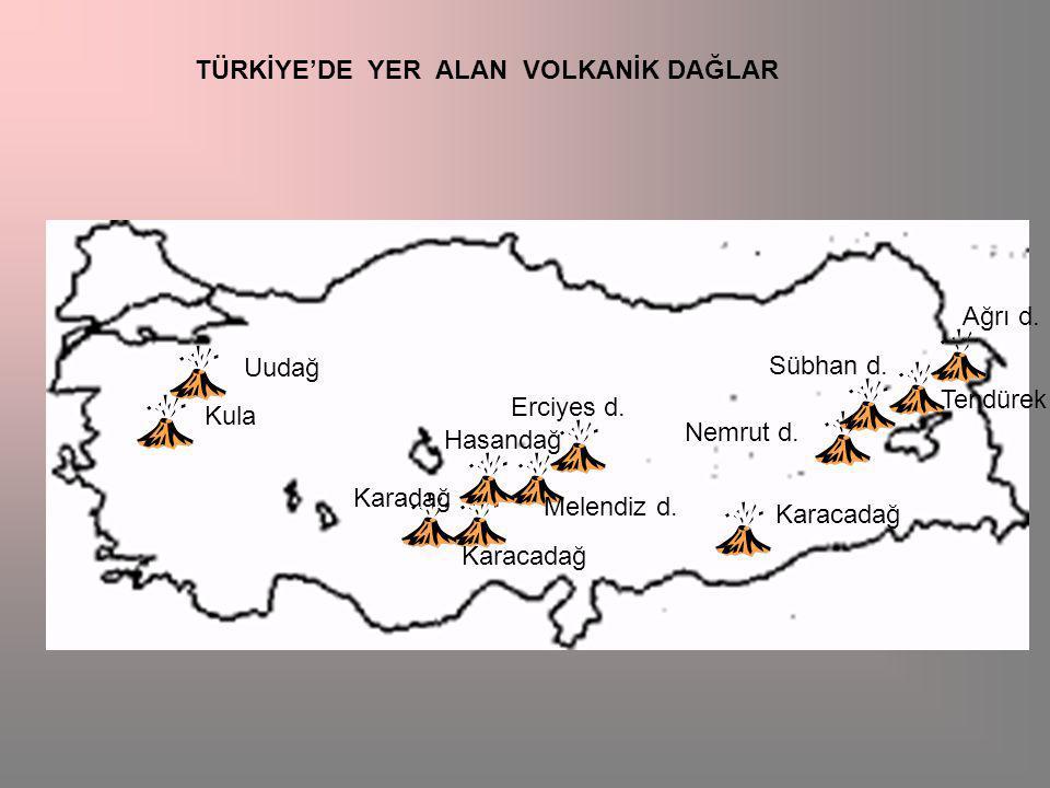 Ağrı d.Tendürek d. Sübhan d. Nemrut d. Erciyes d.