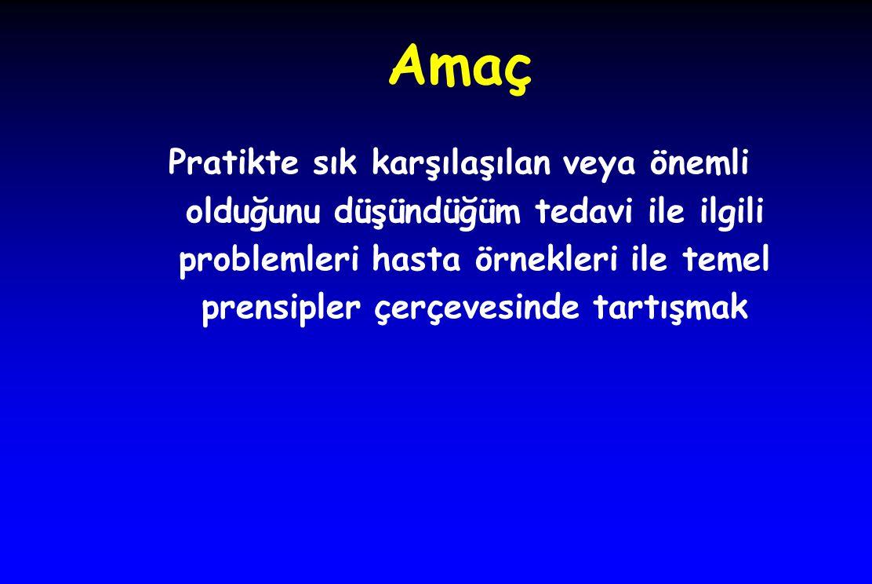 Avrupa kılavuzu (2009) l 130 mm Hg'nın altı sistolik kan basıncı çok nadir l Bu nedenle bu hedefe ulaşmak için çok sayıda ilaç kullanmak gerekir l Yüksek normal kan basıncı (120-139 ve 80-89 mmHg) değerine ilaç vermek.
