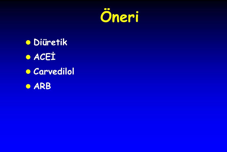 Öneri l Diüretik l ACEİ l Carvedilol l ARB