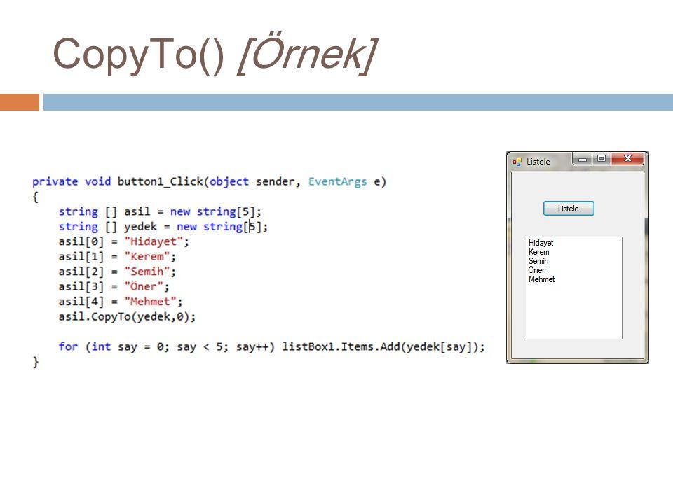 CopyTo() [Örnek]