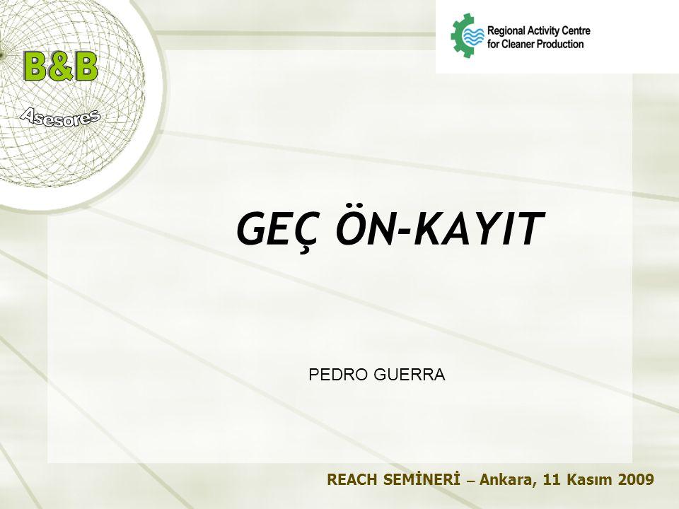 Pedro Guerra Regional Activity Centre B&B Asesores for Cleaner Production C/Ganduxer 5-15, L.