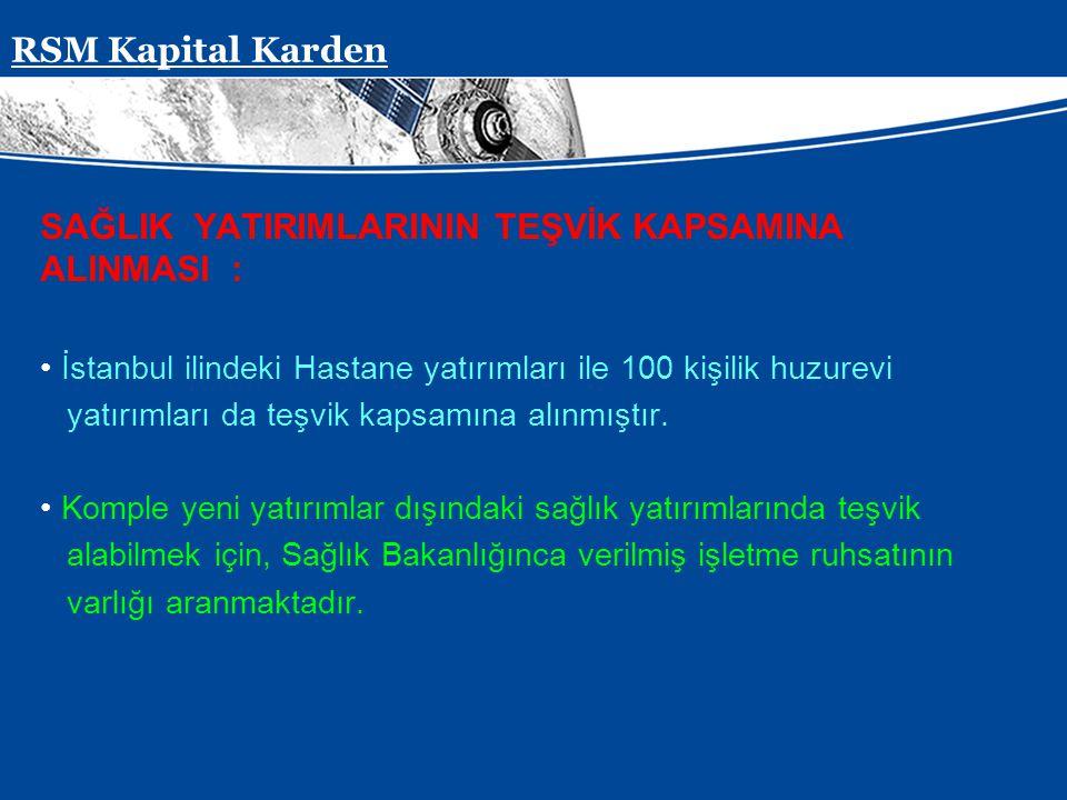 Presentation Subject Header SAĞLIK YATIRIMLARININ TEŞVİK KAPSAMINA ALINMASI : İstanbul ilindeki Hastane yatırımları ile 100 kişilik huzurevi yatırımla
