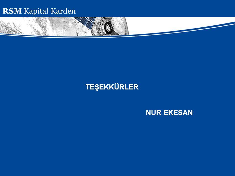 Presentation Subject Header TEŞEKKÜRLER NUR EKESAN RSM Kapital Karden