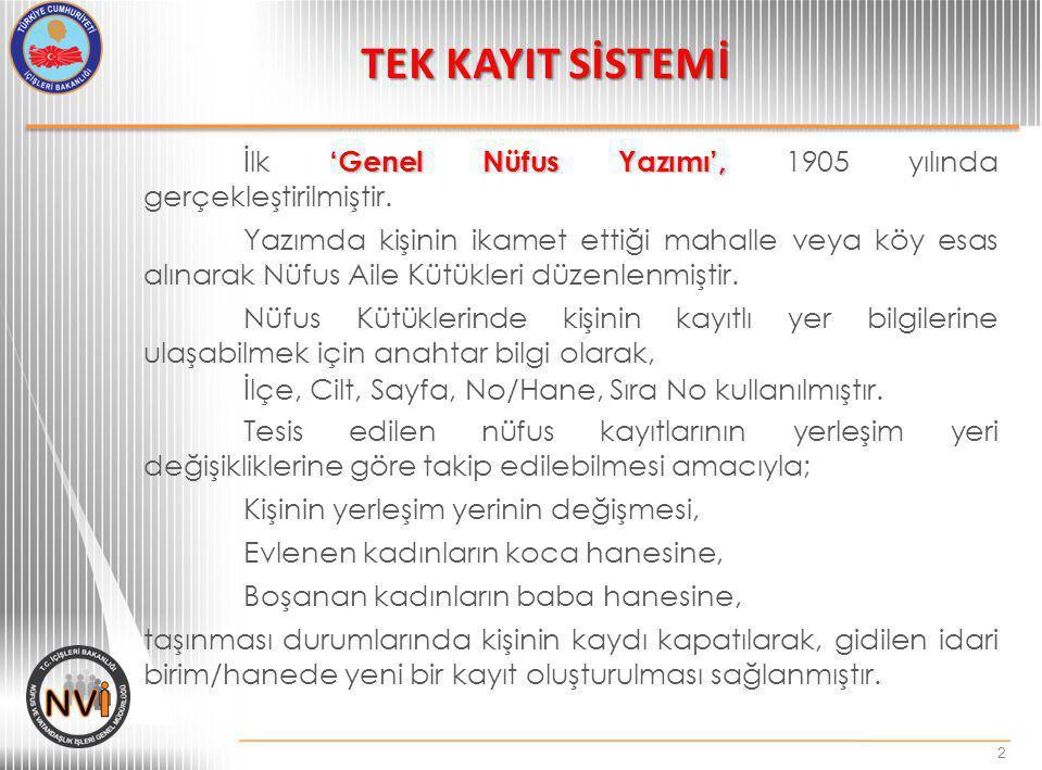 Önerilen Madde 2: 29.04.2006 tarih ve 5490 sayılı Nüfus Hizmetleri Kanunun 7,23,25,28 ve 29 uncu Maddelerinin, 08.12.2001 tarih ve 4721 sayılı Türk Medeni Kanunun 314.