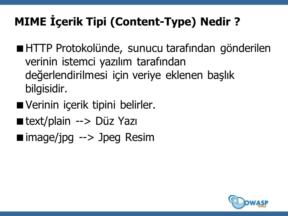 MIME İçerik Tipi (Content-Type) Nedir .