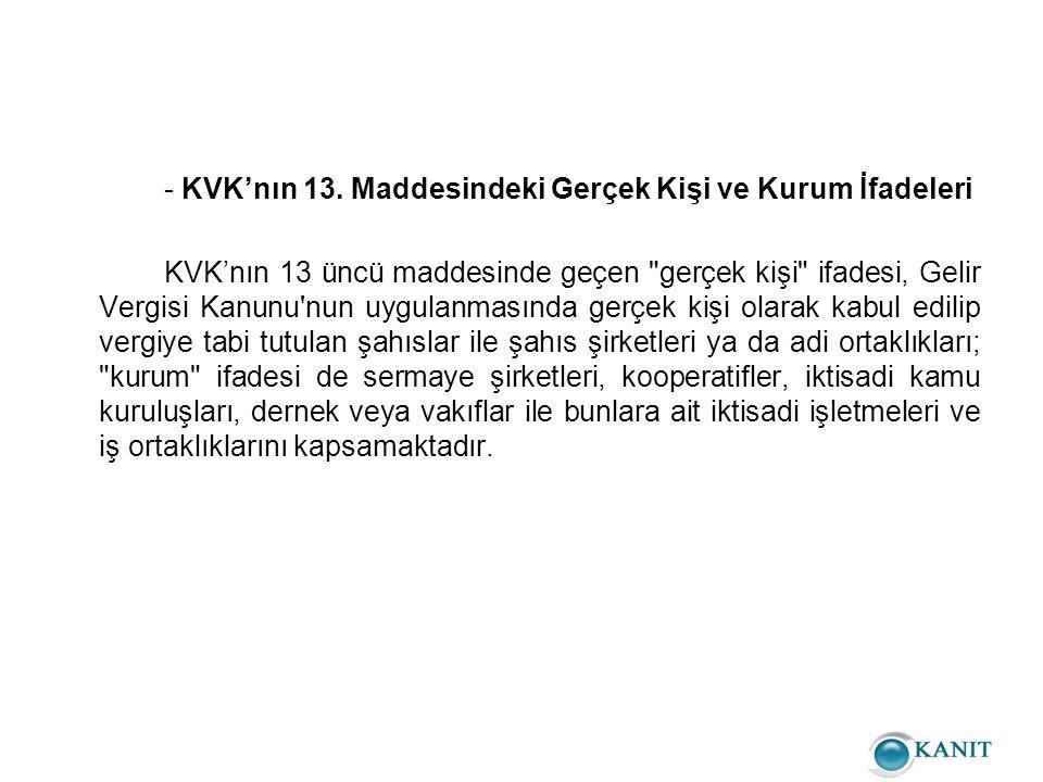 - KVK'nın 13.