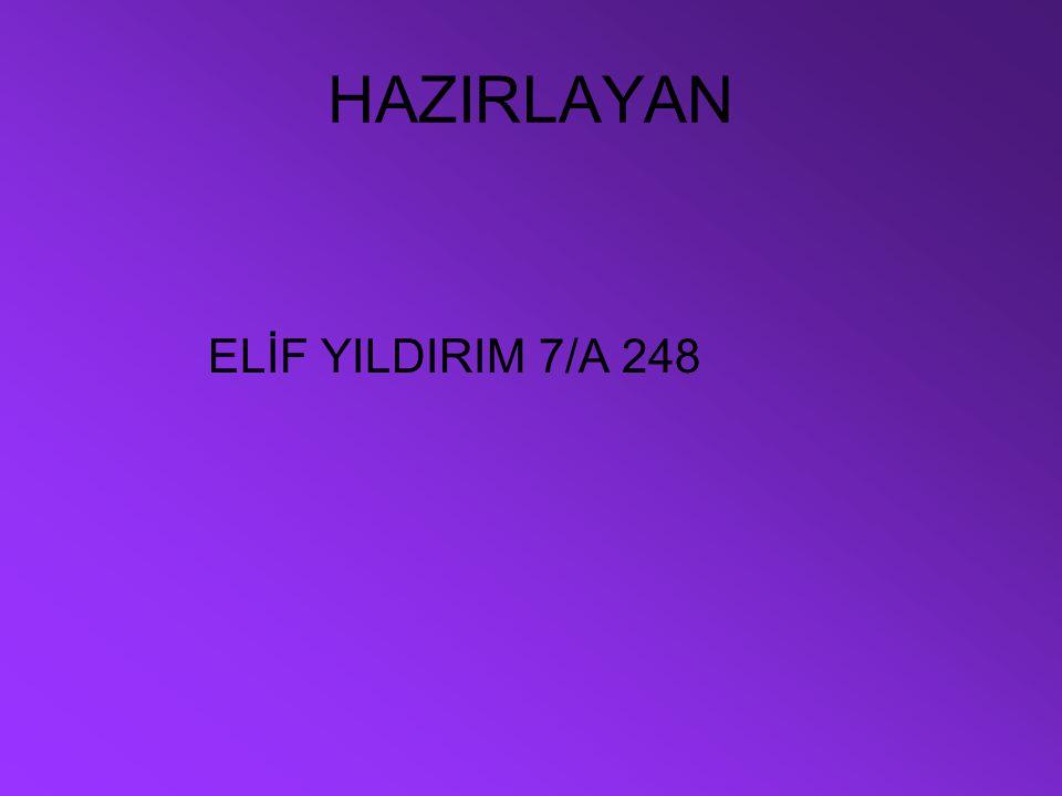 HAZIRLAYAN ELİF YILDIRIM 7/A 248