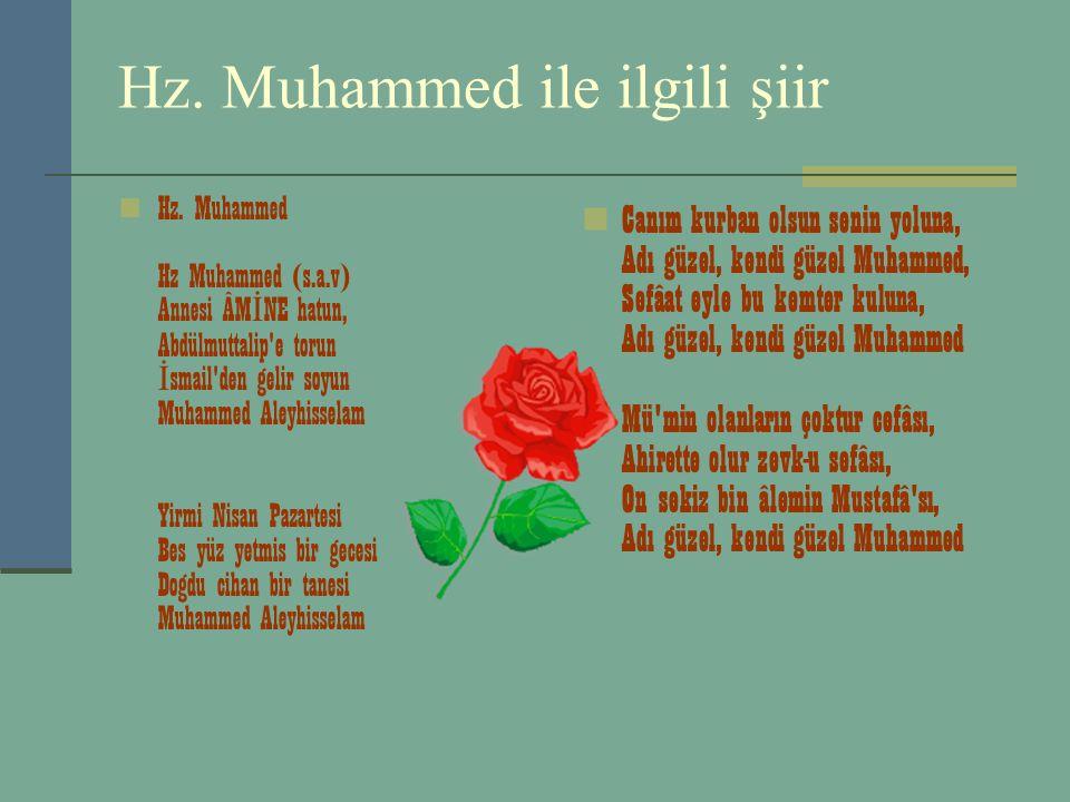 Hz.Muhammed ile ilgili şiir Hz.
