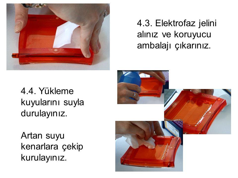 4.3. Elektrofaz jelini alınız ve koruyucu ambalajı çıkarınız.