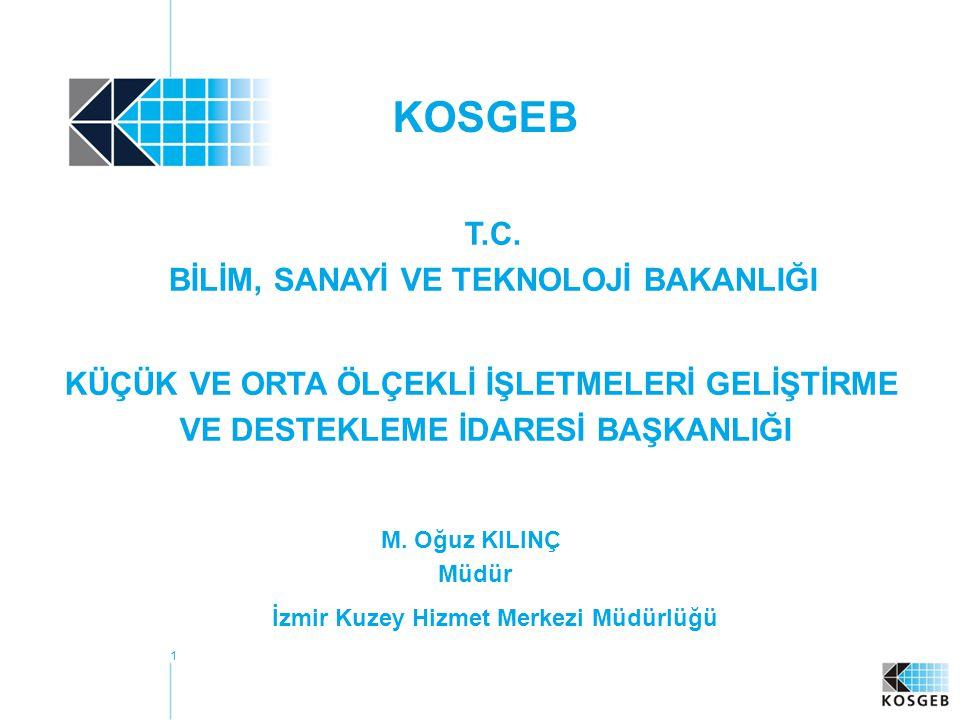 1 KOSGEB M.Oğuz KILINÇ Müdür İzmir Kuzey Hizmet Merkezi Müdürlüğü T.C.