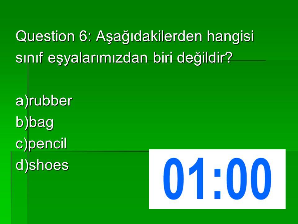 Question 2: Soruya en uygun cevabı yazınız?  Which animal is it ?