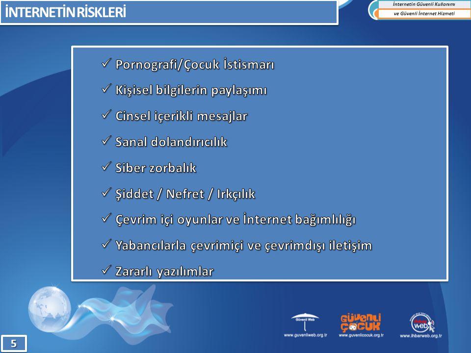 İNTERNETİN RİSKLERİ İnternetin Güvenli Kullanımı ve Güvenli İnternet Hizmeti55