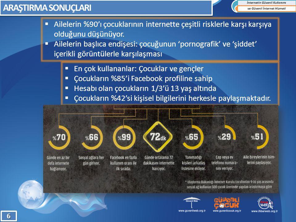 İnternet Bilgi İhbar Merkezi (İhbar Web) 77 İnternetin Güvenli Kullanımı ve Güvenli İnternet Hizmeti