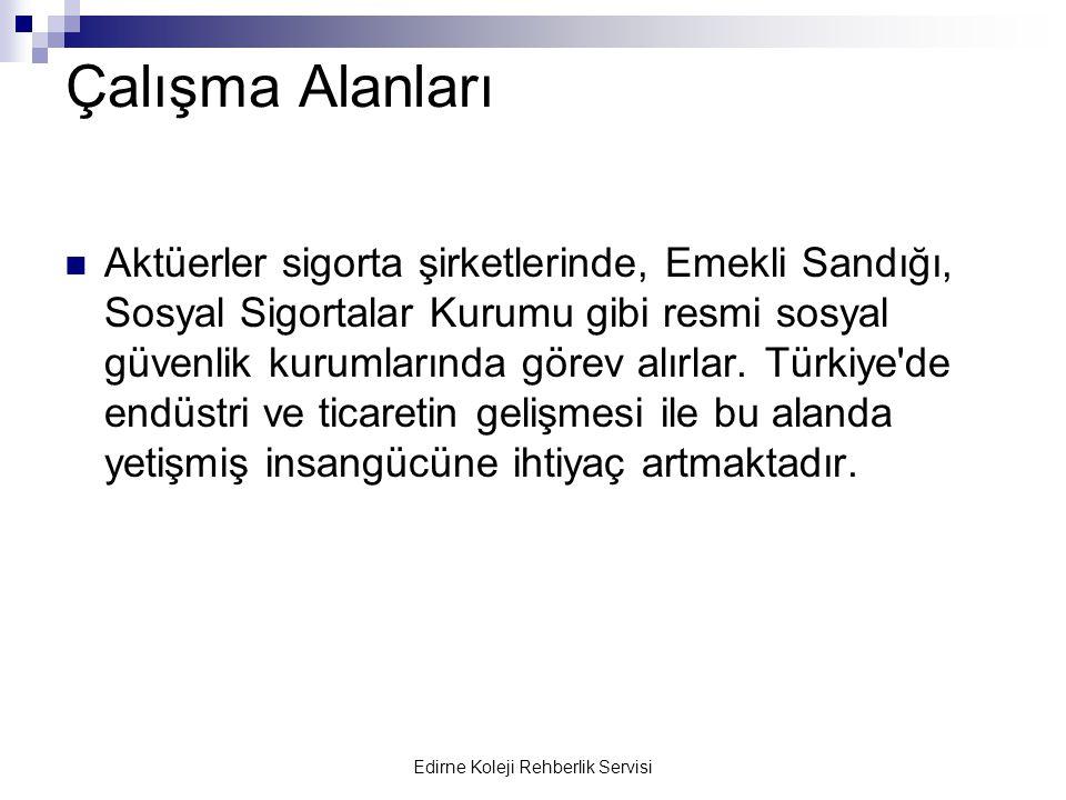Edirne Koleji Rehberlik Servisi Üniversiteler Hacettepe Üniversitesi: 411.216