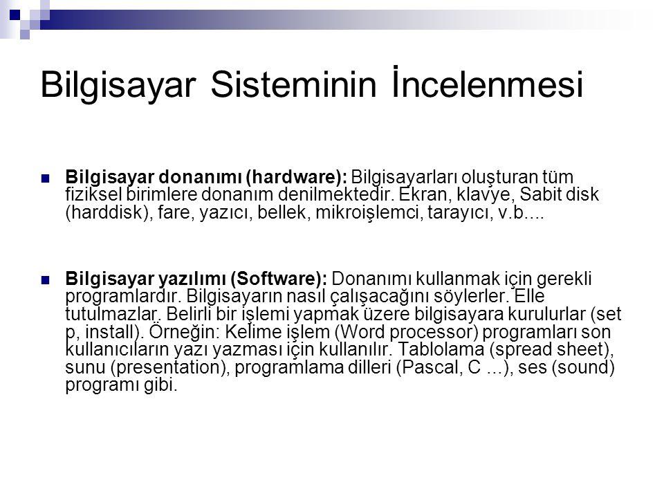 İşletim Sisteminin Temel Görevleri 1.3.Bir İşletim Sisteminin Temel Görevleri 1.