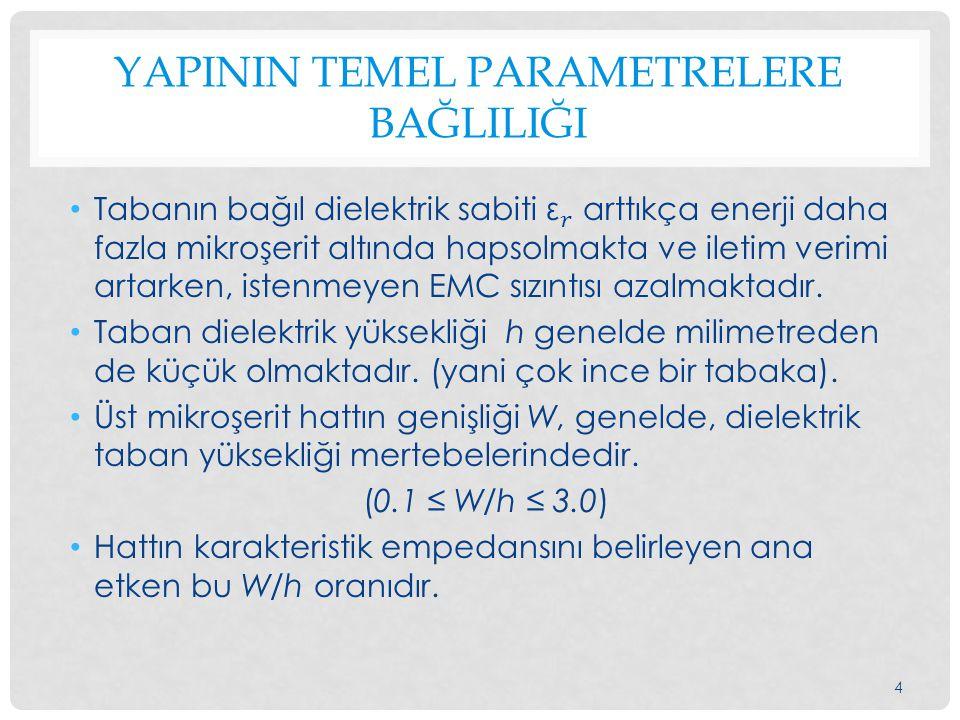 YAPININ TEMEL PARAMETRELERE BAĞLILIĞI 4