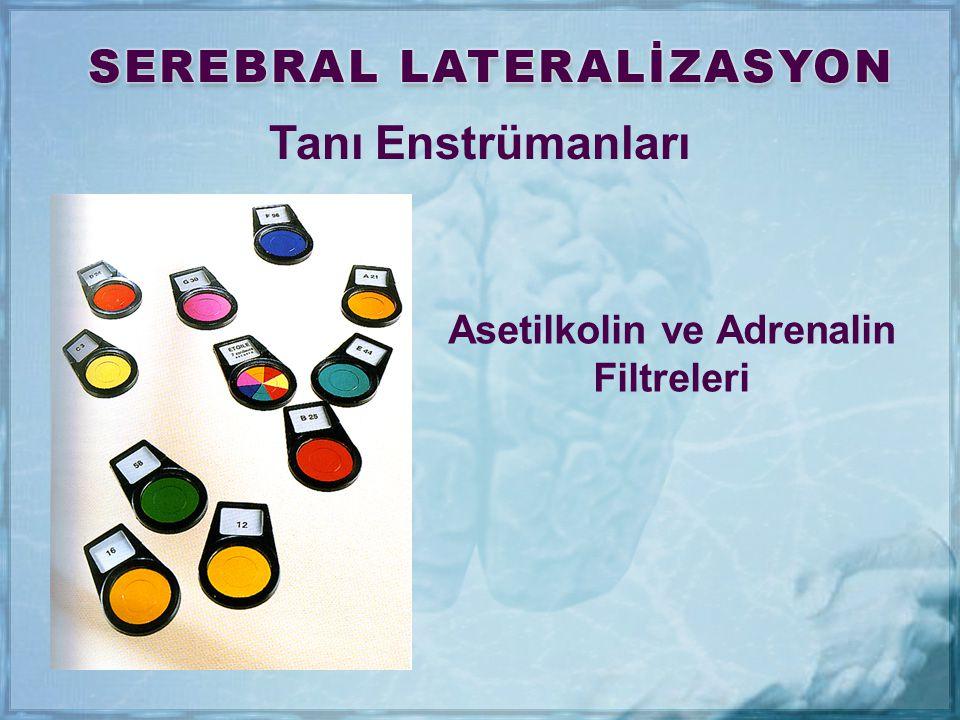 Tanı Enstrümanları Asetilkolin ve Adrenalin Filtreleri