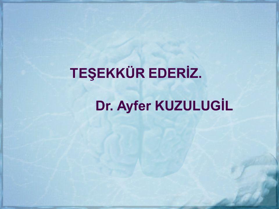 TEŞEKKÜR EDERİZ. Dr. Ayfer KUZULUGİL