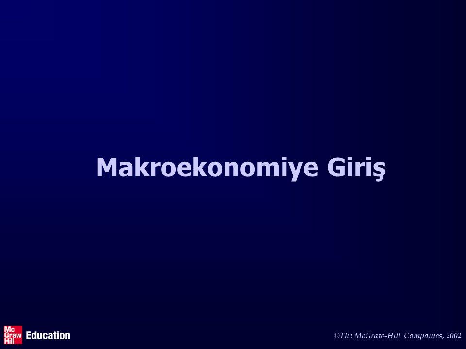 © The McGraw-Hill Companies, 2002 Makroekonomiye Giriş