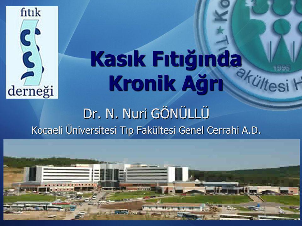 Kasık Fıtığında Kronik Ağrı Dr. N. Nuri GÖNÜLLÜ Kocaeli Üniversitesi Tıp Fakültesi Genel Cerrahi A.D.