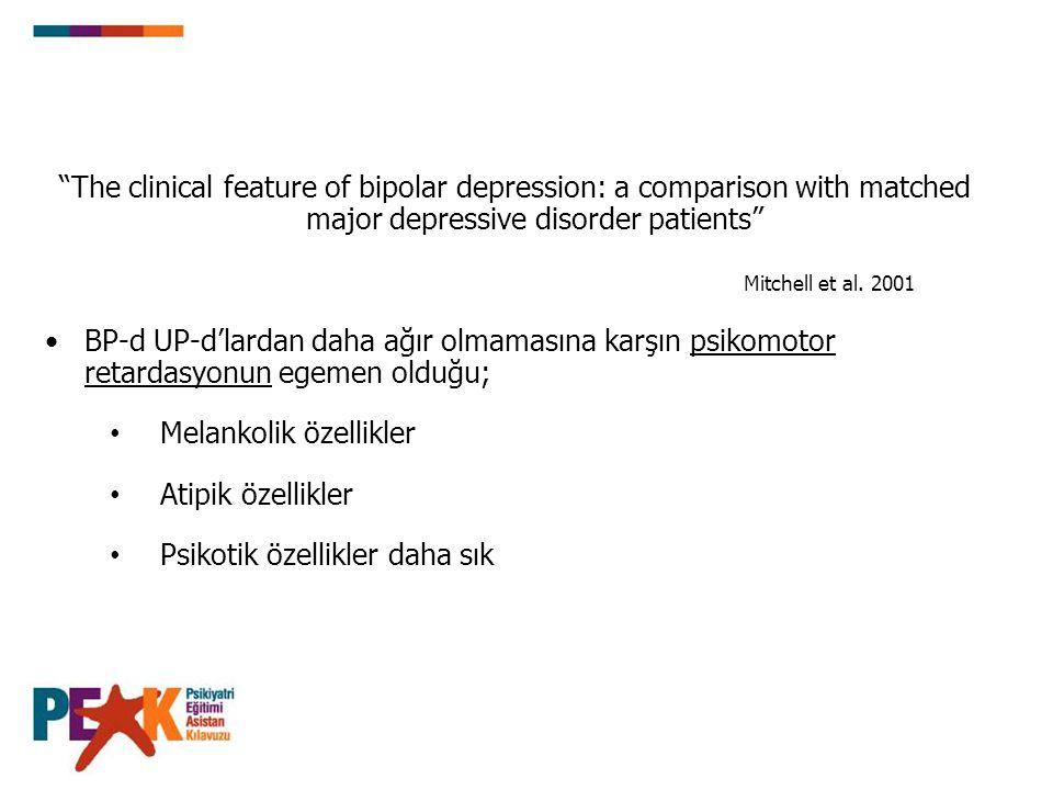 Lityum Bipolar Mani için Altın Standart FDA onayı: Akut mani- %70 yanıt oranı Sürdürüm tedavisi (profilaksi) Hızlı döngüde etkili değil BP Depresyonda ilk sırada - APA 2002 Kılavuzu Kanıtlanmış intihar önleyici etki 28 çalışmanın meta analizi Li intihar hızını 7-9 kat azaltır.