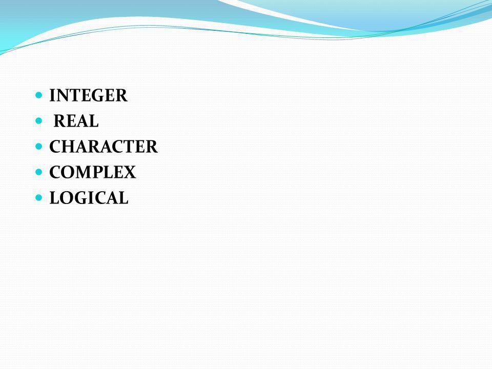 INTEGER Veri tipi Bu veri tipi ile 0 ile 9 arasındaki sayıları içeren tamsayı bilgisi (pozitif veya negatif ) bellekte tutulur.