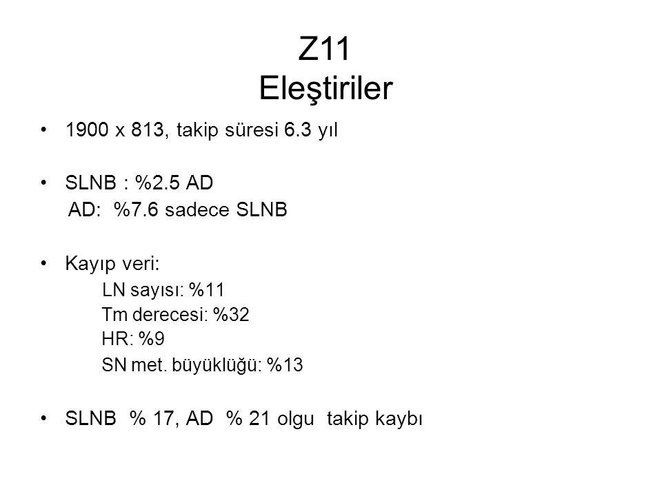 1900 x 813, takip süresi 6.3 yıl SLNB : %2.5 AD AD: %7.6 sadece SLNB Kayıp veri: LN sayısı: %11 Tm derecesi: %32 HR: %9 SN met.