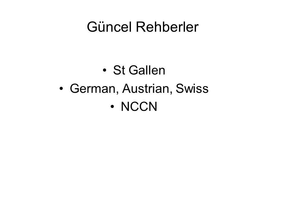 Güncel Rehberler St Gallen German, Austrian, Swiss NCCN