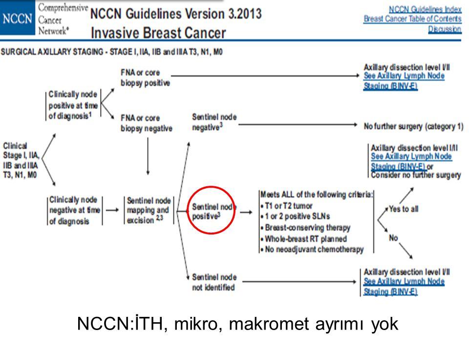 NCCN:İTH, mikro, makromet ayrımı yok
