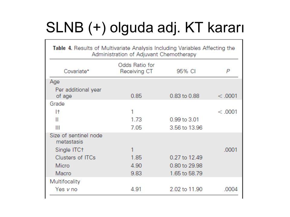 SLNB (+) olguda adj. KT kararı