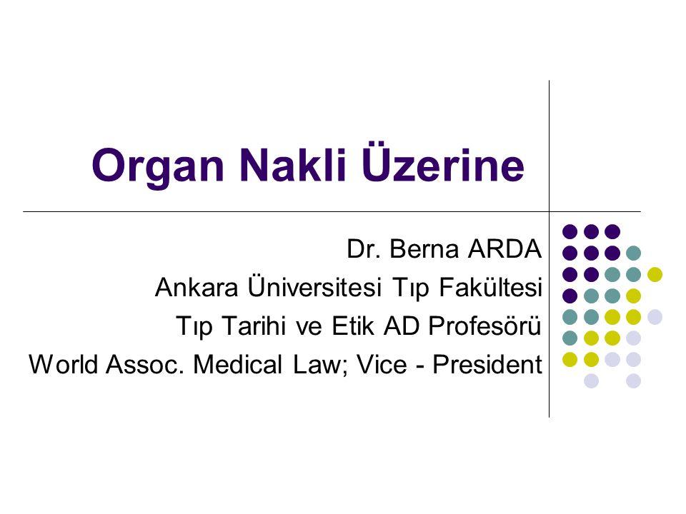 Organ Nakli Üzerine Dr.